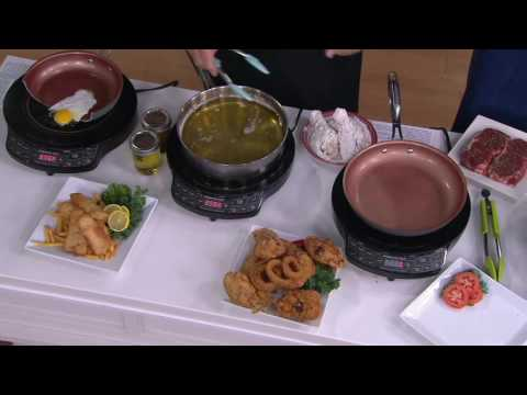 """Nuwave Precision Induction Cooktop Gold w/ 10 1/2"""" Fry Pan on QVC"""