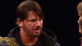 Dixie Carter welcomes new World Champion AJ Styles to IMPACT - October 24, 2013