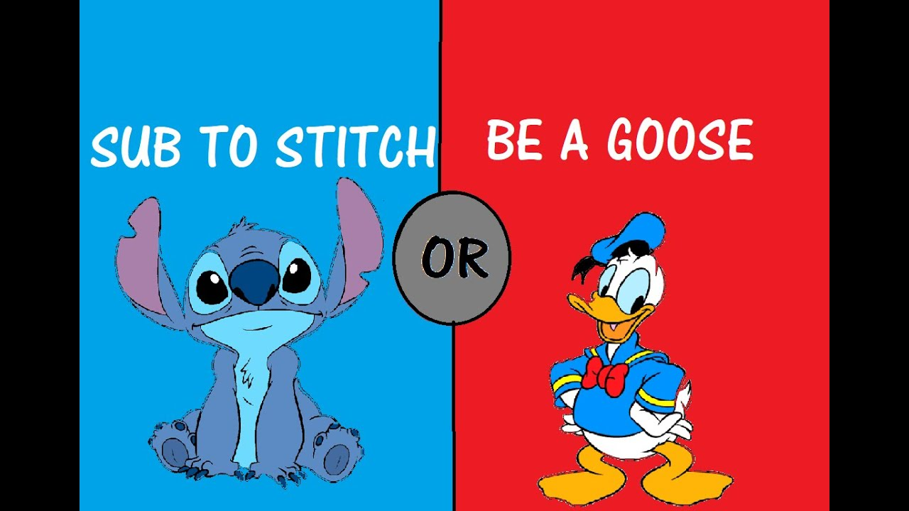 STITCH AND DONALD DUCK PLAY WOULD YOU RATHER!!!