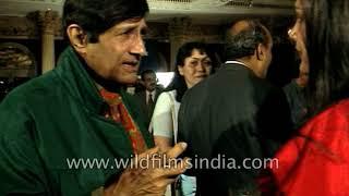 Dev Anand, Hema Malini and Anupam Kher at launch of Gangster, Dev meets Ramesh Sharma