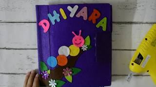 How to make Cover Page of Quiet Book - DIY Silent Book for Toddlers