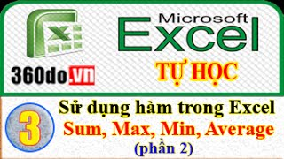 Microsoft Excel - Tự học Excel hiệu quả nhất. Bài 3 (phần 2): Hàm Sum, Max, Min, Average
