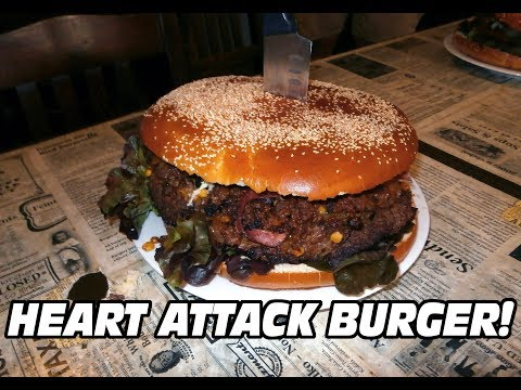 HEART ATTACK BURGER CHALLENGE! NEW RECORD!!