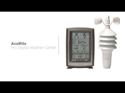 AcuRite Pro Digital Weather Center with Forecast/Temperature/Humidity/Wind Speed 00639