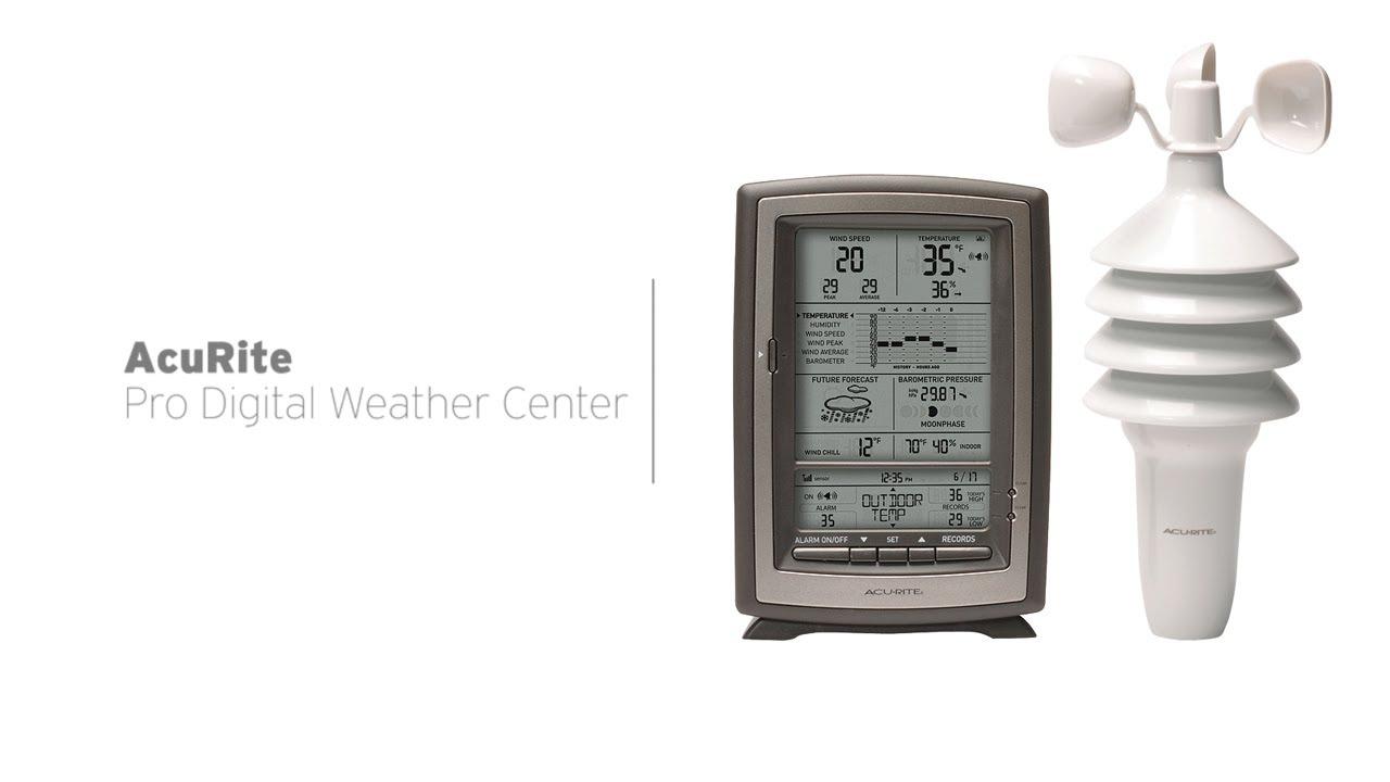 acurite pro digital weather center with forecast temperature