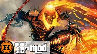 GHOST RIDER in GTA 5! - Mod Gameplay Starring Funhaus