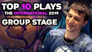 TOP 10 PLAYS OF TI9 GROUP STAGE - THE INTERNATIONAL 2019 DOTA 2