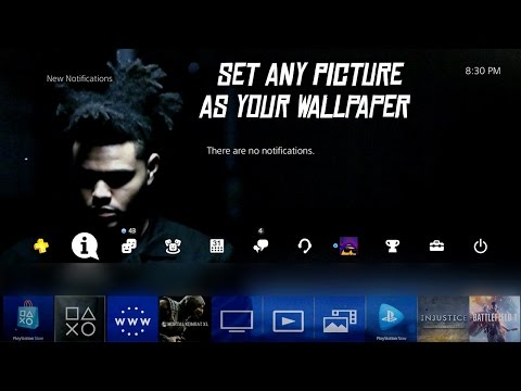 How To Set Any Picture As Your PS4 Theme/Wallpaper! (Update 4.50)