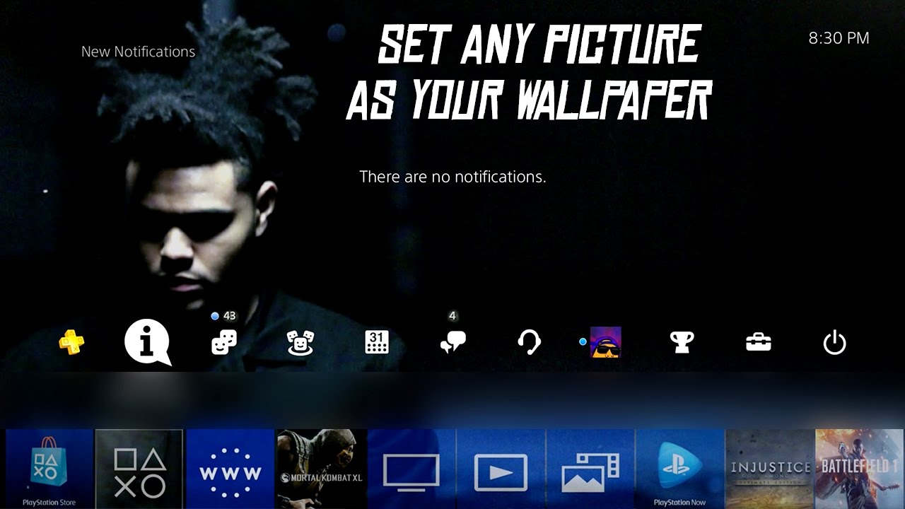 How To Set Any Picture As Your Ps4 Theme Wallpaper Update 4 50 Youtube