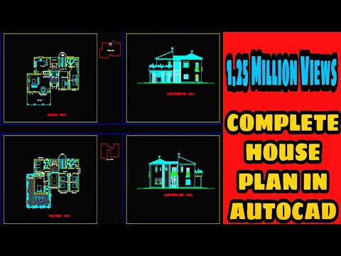 Complete HOUSE PLAN in AutoCAD 2D! -AutoCAD Tutorial !