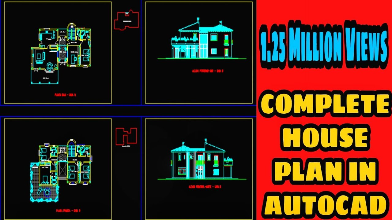 Complete HOUSE PLAN In AutoCAD D AutoCAD Tutorial  YouTube - Autocad for home design