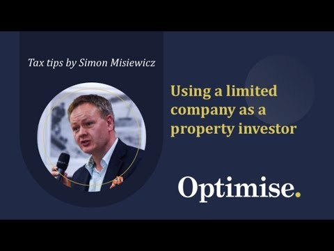 How to save tax using a property investment limited company structure