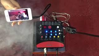 Hát Live Trên ĐT Với Sound Card Icon Upod Pro, Micro PC-K320, Dây Live XOX-MA2