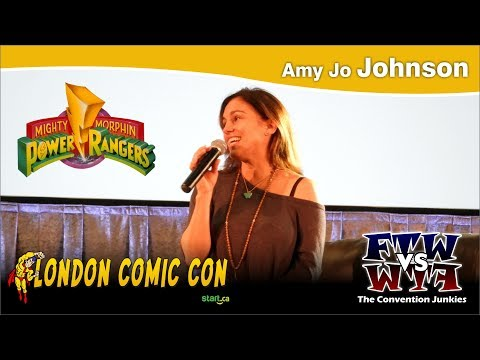 Amy Jo Johnson The Pink Ranger  Power Rangers London Comic Con 2017 Q&A Panel