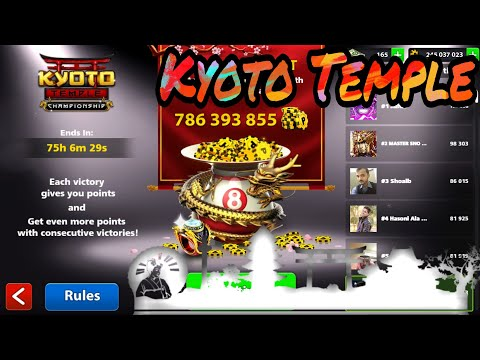 Thumbnail: 8 Ball Pool - Kyoto Temple Championship - Black Hole Cue Game play 🐲🐉