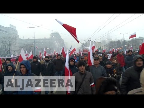 Poland: Anti-immigration protests sweep through Warsaw