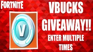 Fortnite V Bucks GIVEAWAY. Support a Creator Enter multiple times with bonus entries!