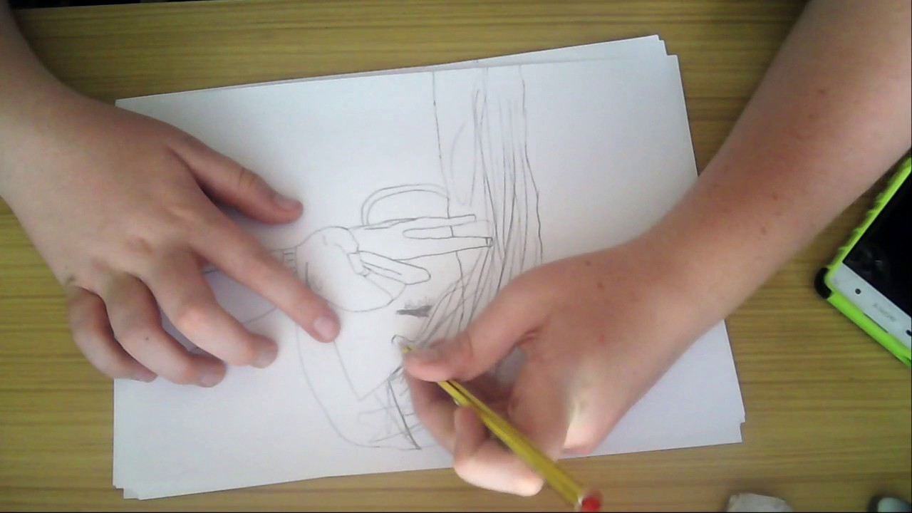 6119c74d591 NIKE GIRL DRAWING TUTORIAL (PART 1) - YouTube