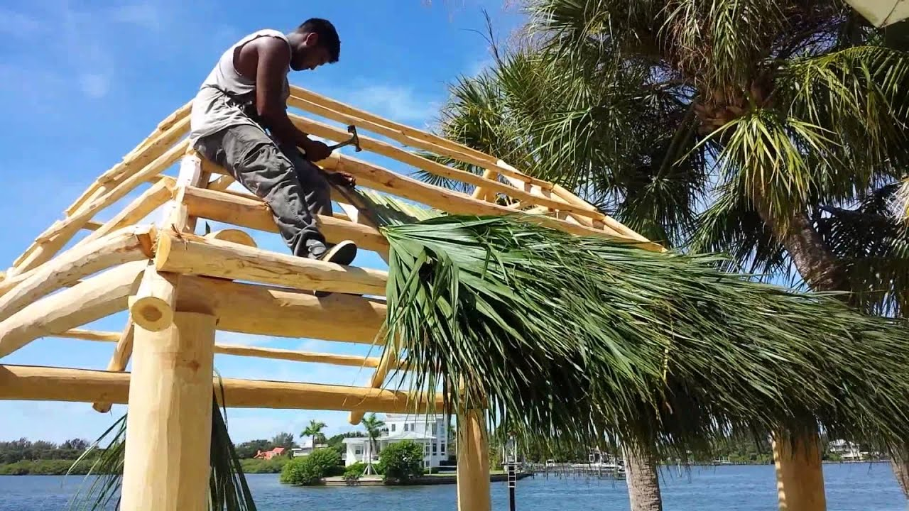 Building the tiki hut part 2 YouTube
