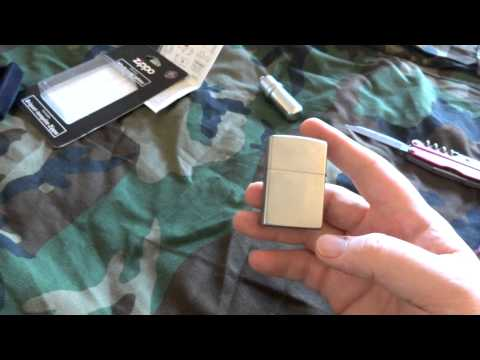 Fire Starters-Zippo Lighter-How to and review.