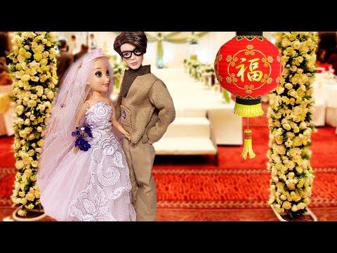 МАШУ ВЫДАЮТ ЗАМУЖ! Играем в  Куклы Мама Барби и Маша