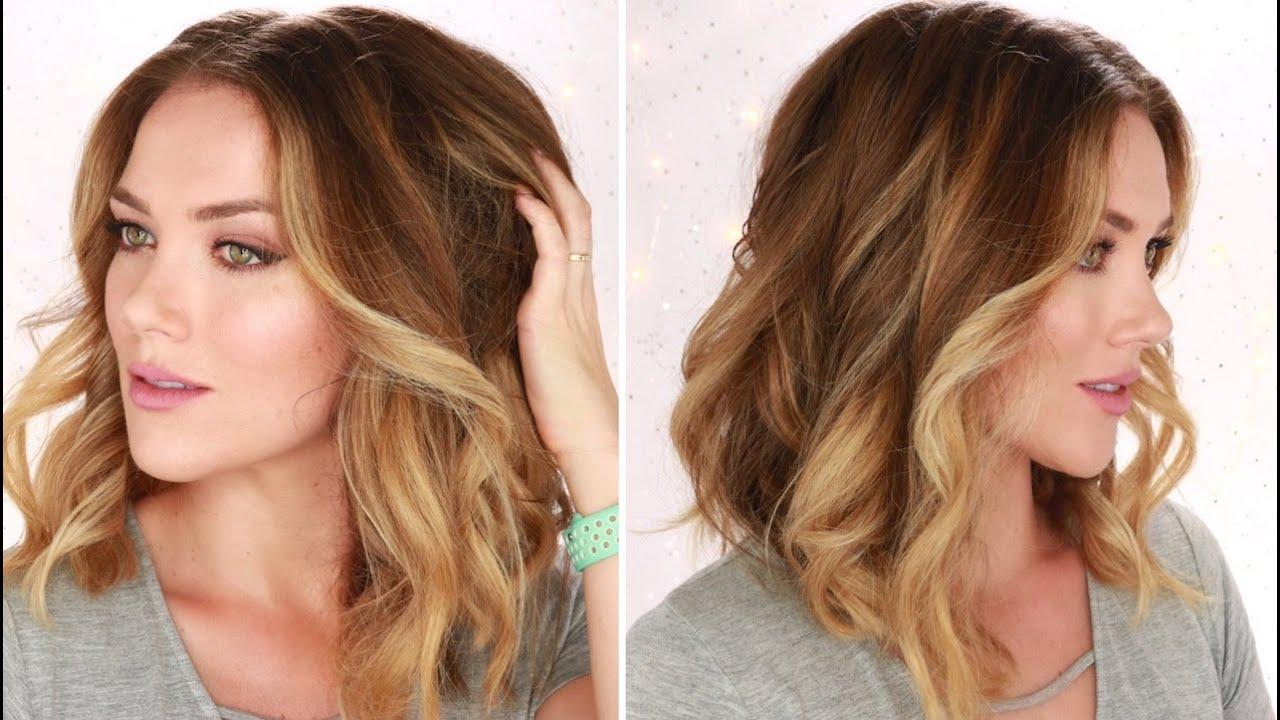 How To Curl Your Hair For Big Soft Beach Waves Short To Medium Hair Rita Almusa Youtube
