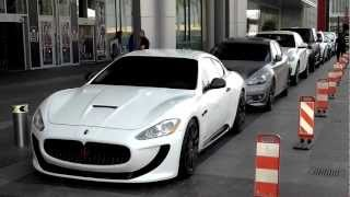 Exotic Cars at Dubai Mall Valet Parking, Dubai, UAE. 26.09.2012