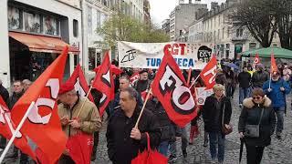 La manif' interprofessionnelle a défilé dans les rues de Pau