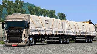 EURO TRUCK SIMULATOR 2 - SÉRIE VIDA REAL #9 - 9 eixos de 25m! *Scania R420 Highline rebaixada*