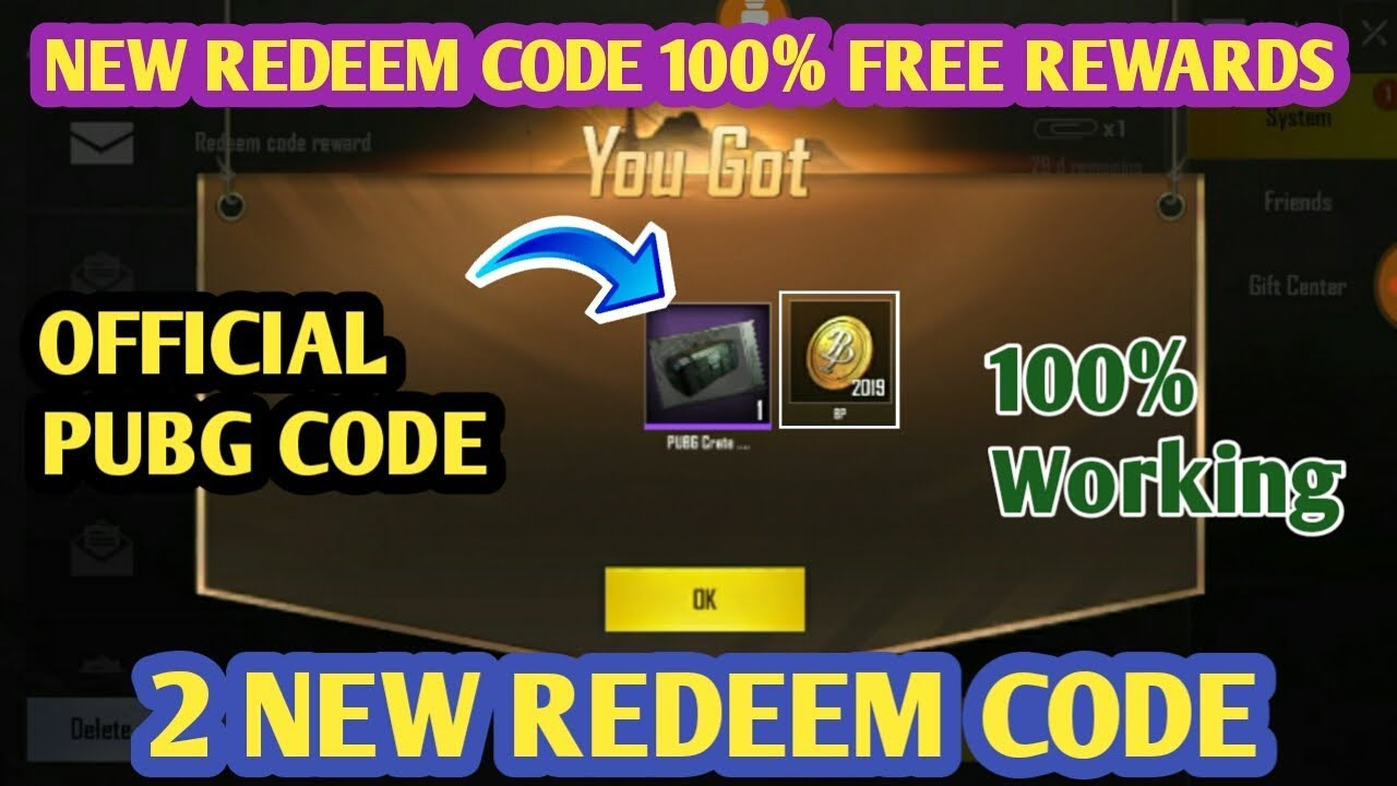 Pubg Mobile 2 New Redeem Codes | 100% Free Crate Coupons and BP Coins In  Pubg Mobile