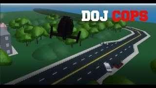 ROBLOX DOJ Cops #10 - The Standoff! (LEO Air Unit)