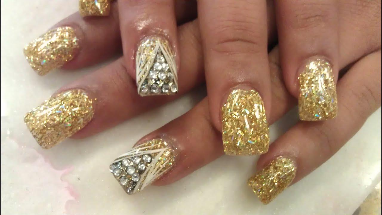 genx golden nails confetti