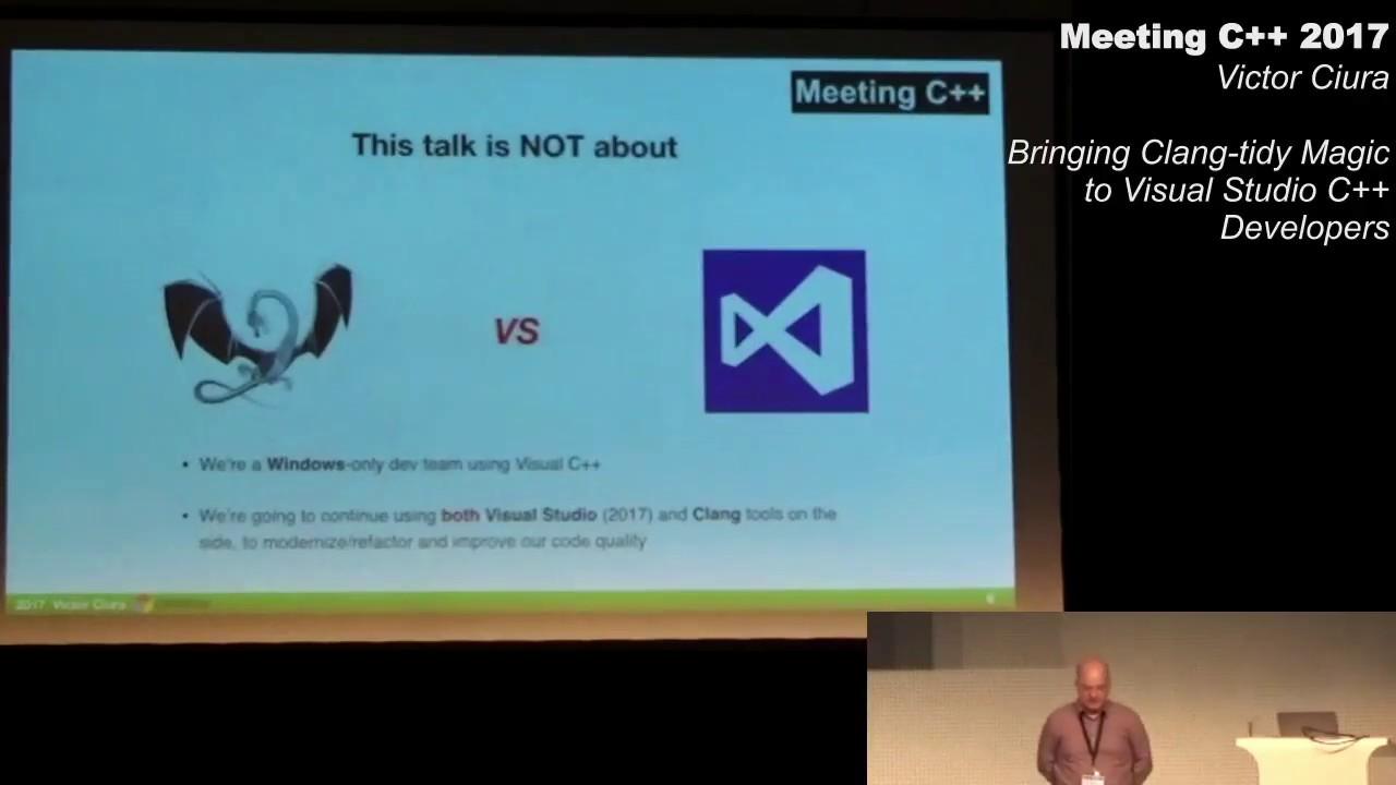 Bringing clang-tidy magic to Visual Studio C++ Developers - Victor