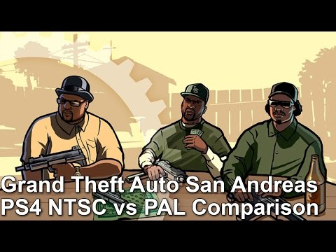 UPDATED Grand Theft Auto San Andreas PS4 Frame-Rate Test [UK vs US]