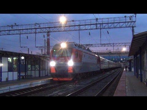 Электровоз ЭП1М-751 с поездом №198 Иркутск — Кисловодск