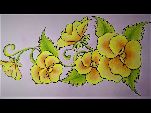 How To Draw Yellow Flowers Step By Step Pencil Art Drawings Of Flowers For Beginners Youtube