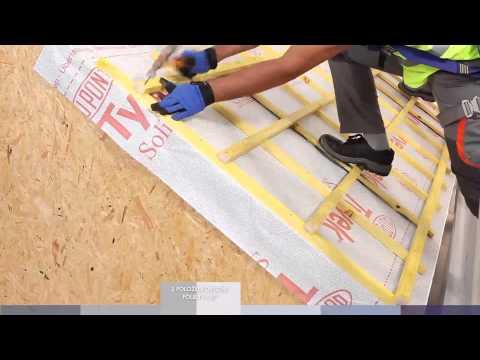 DuPont™ Tyvek® roof installation video - CZ