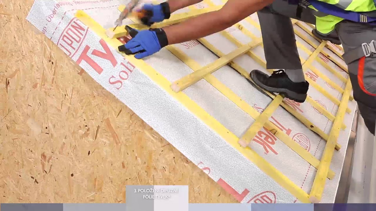 Dupont Tyvek 174 Roof Installation Video Cz Youtube