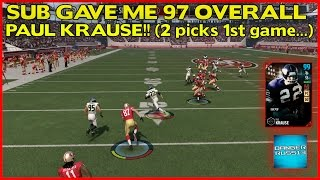 MUT 17 | SUB GAVE ME 97 PAUL KRAUSE!! (2 picks in 1st game...) | MADDEN 17 ULTIMATE TEAM
