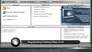 Ping Kaching Tiny URL Training