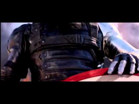 Bucky Picks Up Captain America's Shield