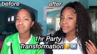 1 HOUR PARTY TRANSFORMATION / GRWM 🥳💦
