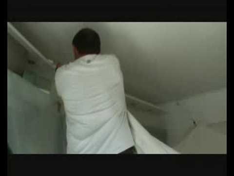plafond tendu Methode de pose dun faux plafond en plafond tendu PVC   YouTube