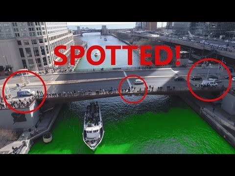 Almost Arrested For Flying Drone @ Chicago River Green!
