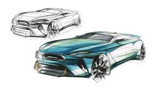 자동차 스케치(Car Sketch & Marker)