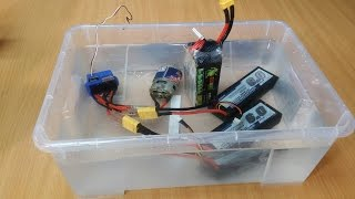 RC новичок №1 ... Lipo аккумулятор + вода! Замкнет?