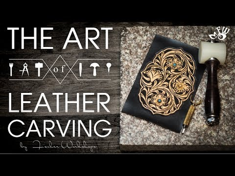 The art of leather Carving by Fischer Workshops (HD)