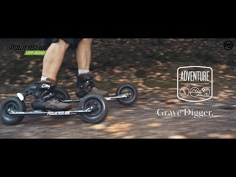 Cross-country skating on the Powerslide Grave Digger Adventure Off-Road skates - 908201