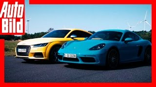 Porsche 718 Cayman vs Audi TTS (2016)  Vergleich/Test/ Review