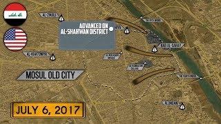 7 июля 2017. Военная обстановка в Ираке. Коалиция США добивает ИГИЛ в Мосуле. Русский перевод.